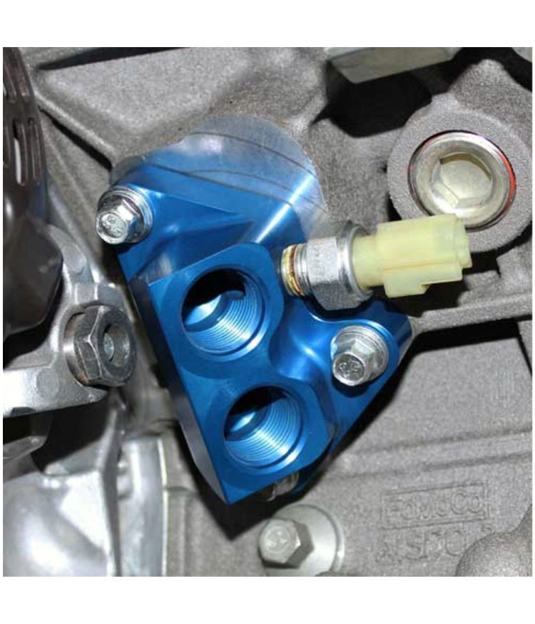 M-6881-M50 Oil Line Adaptor - Ford 2011-2014 5.0L 4V TI-VCT