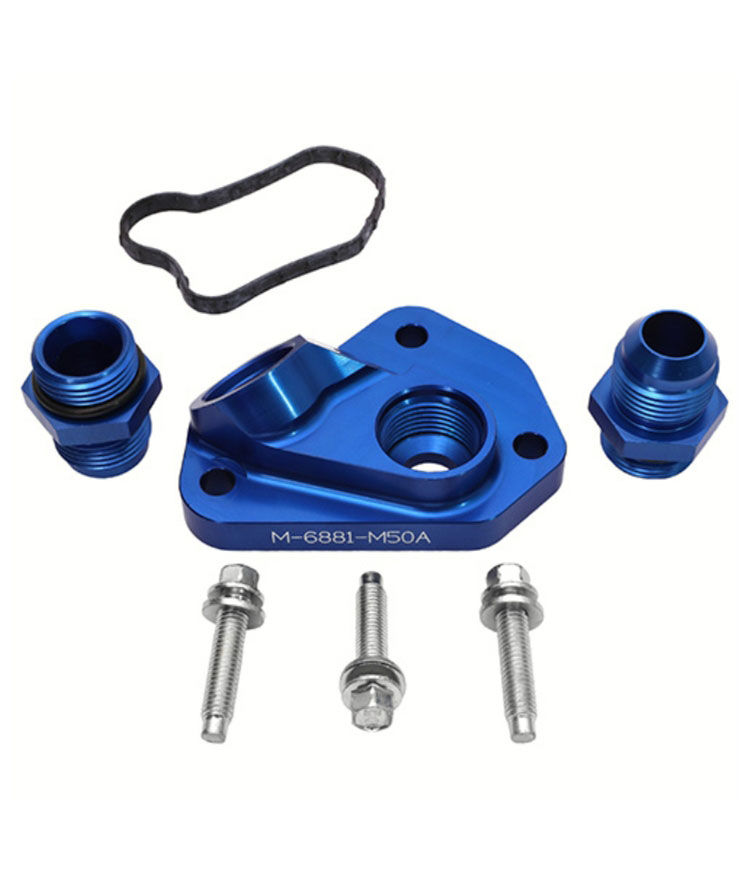 M-6881-M50A Oil Line Adapter - Ford 2011-2014 5.0L 4V TI-VCT